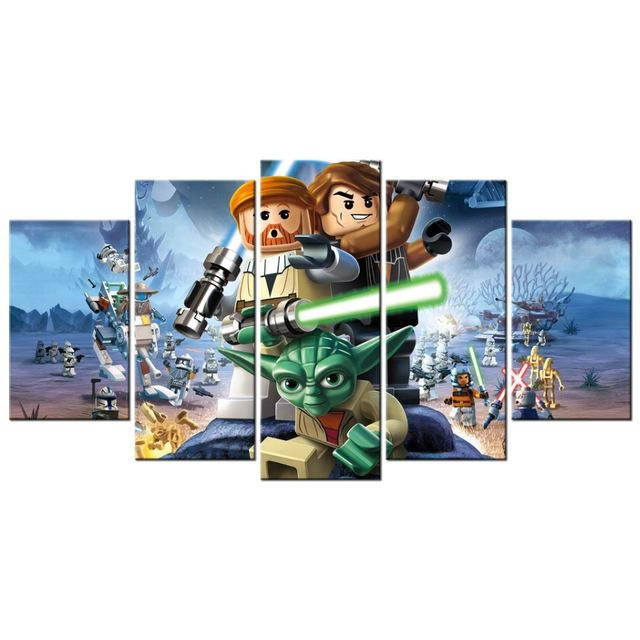 Contemporary Art Lego Star Wars The Video Game Poster Canvas Within Lego Star Wars Wall Art (View 14 of 20)