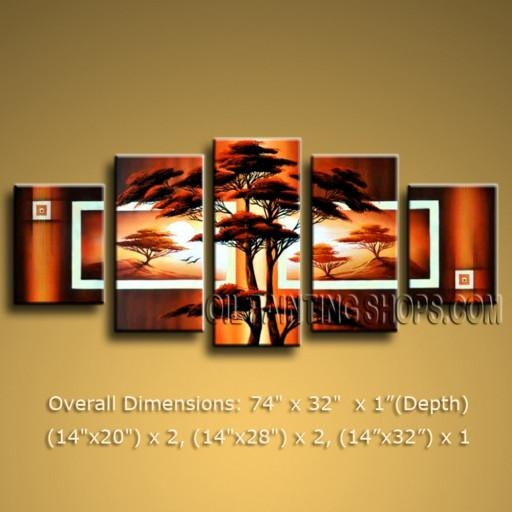 Contemporary Canvas Wall Art Modern Abstract Oil Painting Home Intended For Multi Canvas Wall Art (View 14 of 20)