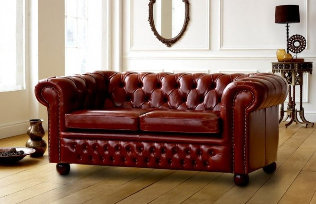 Contemporary Chesterfield Sofa 3 Seater In Nutty Brown Intended Decor Regarding Red Chesterfield Chairs (Image 13 of 20)