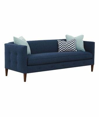 Contemporary Fabric Sofa With Button Tufted Sides | Club Furniture In Bench Style Sofas (Image 6 of 20)