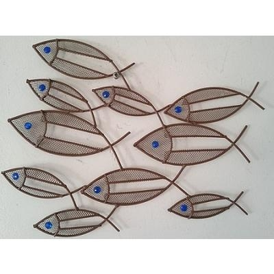 Contemporary Metal Wall Art Mini Fish Shoal | Wall Art With Regard To Fish Shoal Wall Art (View 16 of 20)