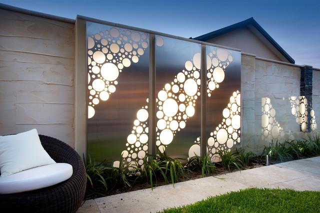 Contemporary Outdoor Wall Art | Wallartideas Intended For Modern Outdoor Wall Art (Image 9 of 20)