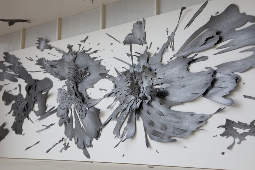 Contemporary Wall Art – Abstract, Metal And Glass | Founterior In Contemporary Wall Art (Image 10 of 20)