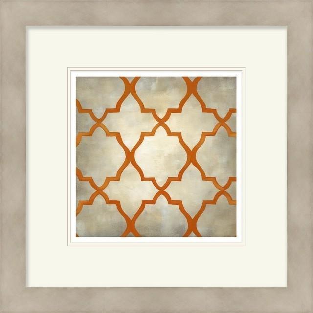 Contemporary Wall Decor Square Orange Gray Wall Art – Contemporary Throughout Contemporary Wall Art (View 8 of 20)