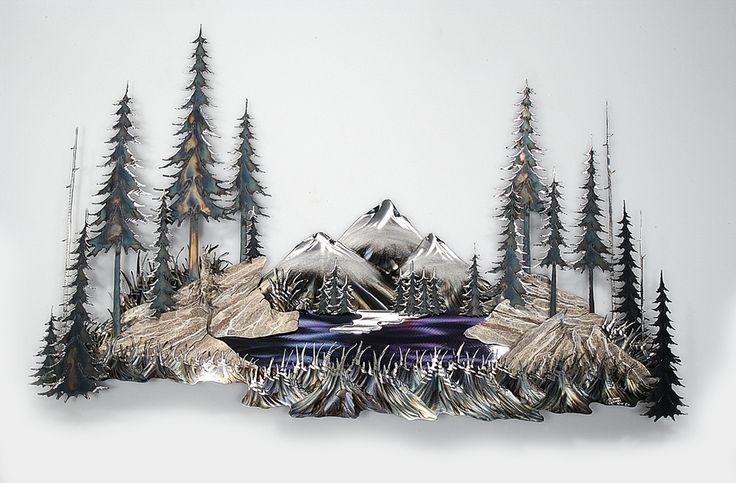 Contents Copyright Shaffer Fine Art Gallery And Its Artists With Regard To Mountain Scene Metal Wall Art (Image 8 of 20)