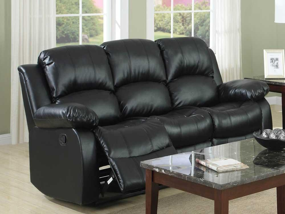 Cool Black Leather Recliner Sofa Leather Sofas Amp Chairs Corner Inside Black Leather Sofas And Loveseats (Image 8 of 20)