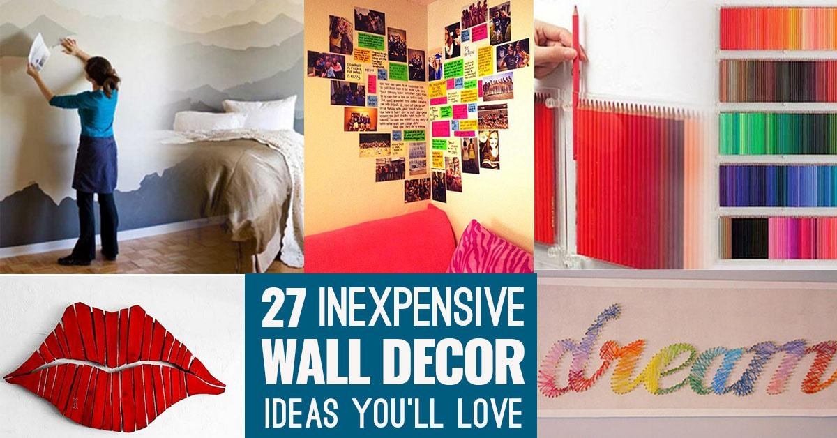 Cool, Cheap But Cool Diy Wall Art Ideas For Your Walls Within Cheap Wall Art And Decor (Image 15 of 20)