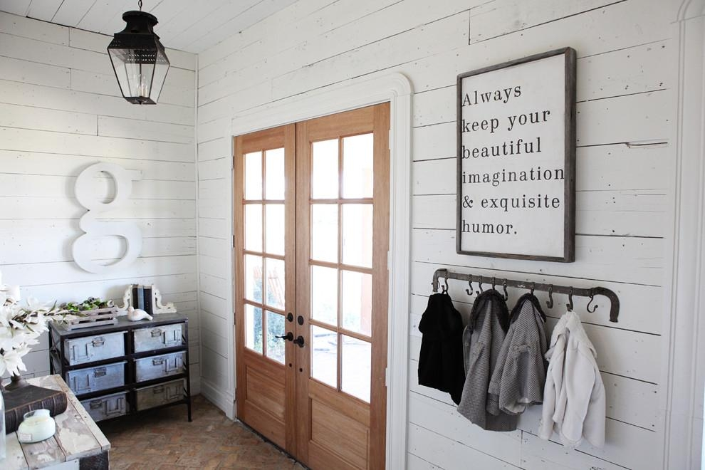 Cool Coat Hooks Entry Farmhouse With White Paneling Wall Art Within Wall Art Coat Hooks (Image 11 of 20)