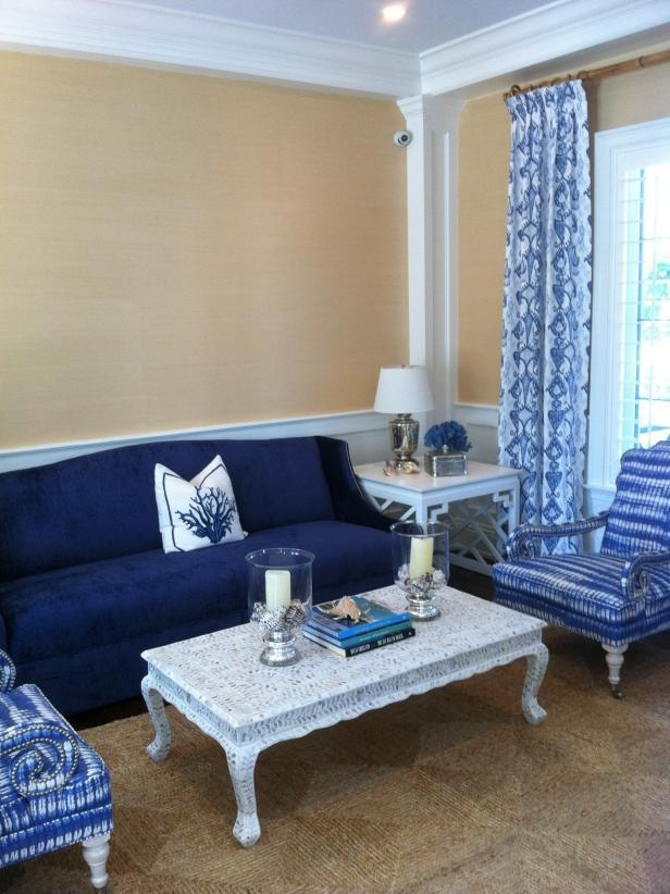 Cool Down Your Design With Blue Velvet Furniture | Hgtv's With Regard To Living Room With Blue Sofas (View 9 of 20)