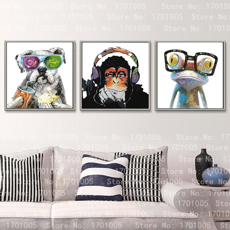 Cool Modern Oil Painting Room Deco Wall Art Hanging Frog Dod With Cool Modern Wall Art (Image 8 of 20)
