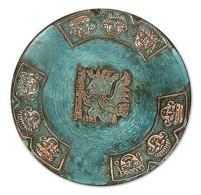 Copper And Bronze Plate Handmade Art From Peru – Inca Messenger With Regard To Peruvian Wall Art (Image 9 of 20)