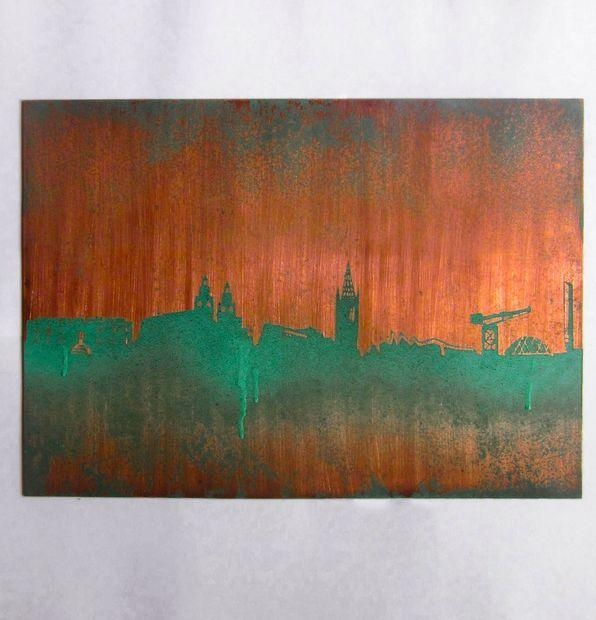 Copper City Skyline Wall Art: 4 Steps (With Pictures) Pertaining To Large Copper Wall Art (Image 10 of 20)
