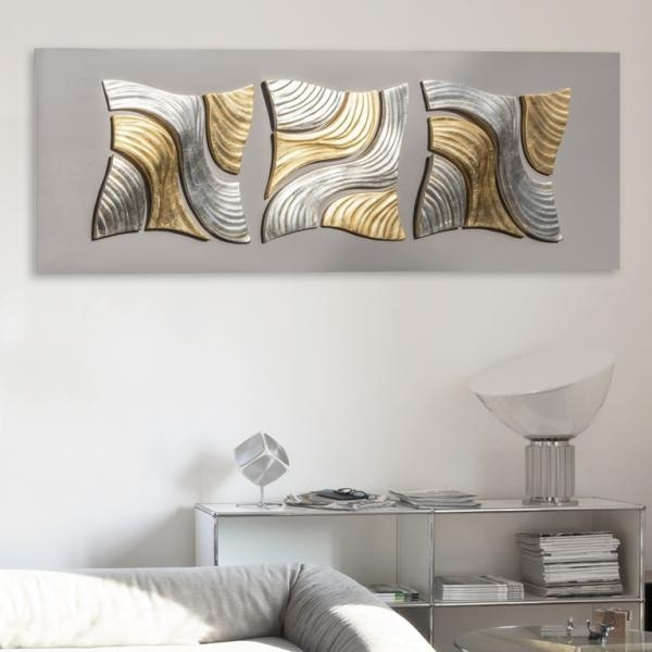 Coral Moon Modern Pint Decor Ceramic Wall Decoration Within Uk Contemporary Wall Art (View 3 of 20)