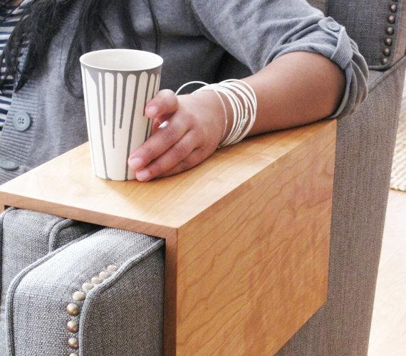 Couch Arm Wrap Is A Classed Up Cup Holder | Incredible Things Within Sofas With Drink Holder (Image 10 of 20)