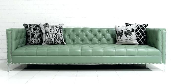 Couch : Seafoam Green Couch Mint Green Leather Sofa Set' Seafoam Inside Seafoam Green Couches (Image 5 of 20)