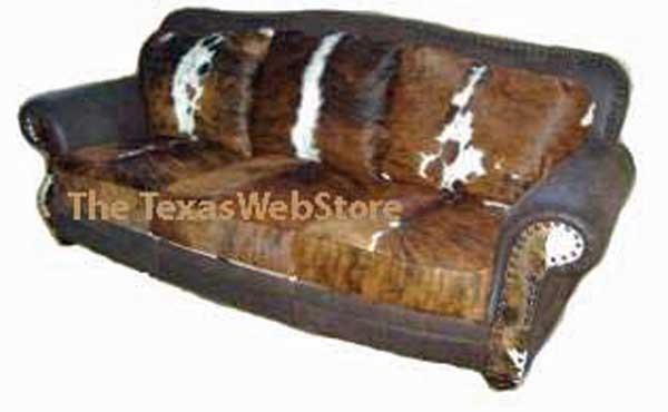 Country Western Cowhide Sofas, Our Prices Beat Free Shipping Offers Within Cowhide Sofas (Image 6 of 20)