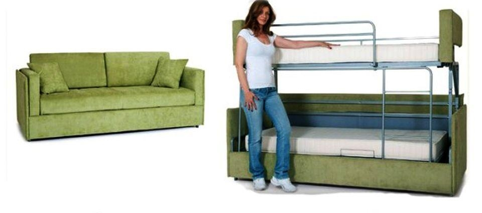 Coupe Sofa Turns Into A Comfy Bunk Bed In Just 14 Seconds – Homecrux Intended For Sofas Converts To Bunk Bed (Image 10 of 20)