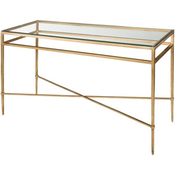 Couture Collection Baumgarten Antique Gold Gilt Console Table Intended For Gold Sofa Tables (View 9 of 20)
