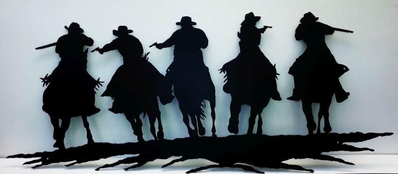 Cowboy – Western – Ignition Metal Art Design Regarding Western Metal Wall Art Silhouettes (Image 2 of 20)