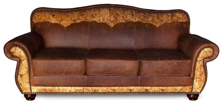 Cowhide Furniture, Western Style Furniture, We Beat Free Shipping For Cowhide Sofas (Image 8 of 20)