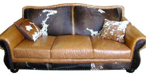 Cowhide Furniture, Western Style Furniture, We Beat Free Shipping With Regard To Cowhide Sofas (View 4 of 20)