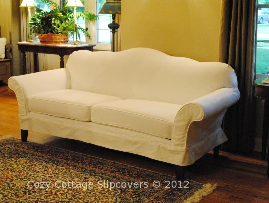 Cozy Cottage Slipcovers: Camel Back Sofa With Camel Back Couch Slipcovers (Image 12 of 20)