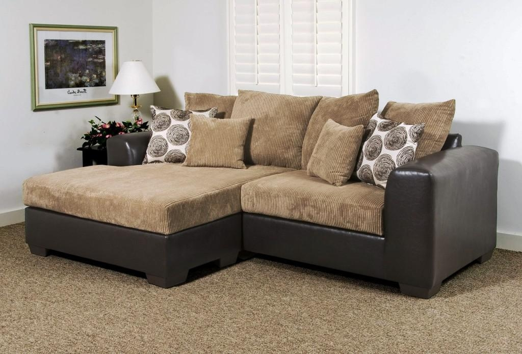 Cozy Small Sectional Sofa With Chaise — Prefab Homes In Small Sofas With Chaise Lounge (View 5 of 20)