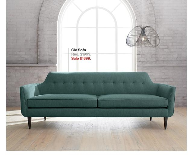 Crate And Barrel: Save 15% On Our Mid Century Inspired Gia Sofa With Regard To Crate And Barrel Futon Sofas (Image 6 of 20)