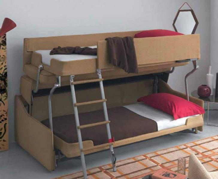 Crazy Transforming Sofa Goes From Couch To Adult Size Bunk Beds In With Sofas Converts To Bunk Bed (Image 11 of 20)