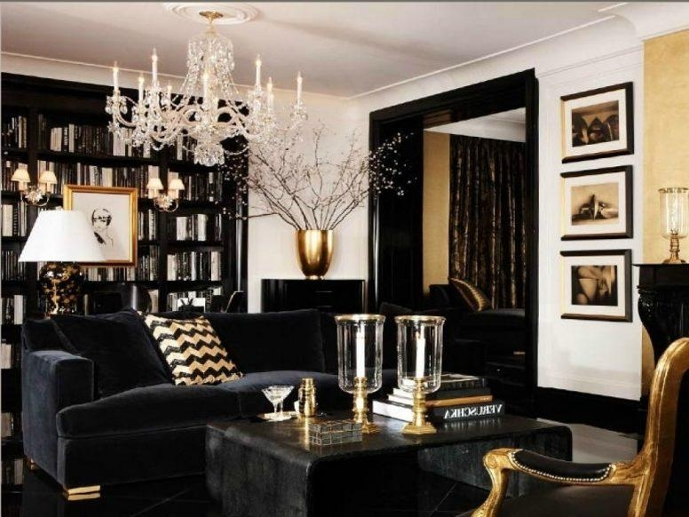 Cream And Gold Living Room Ideas Ivory White Modern Cubic Sofas With Sofas Black And White Colors (Image 19 of 20)