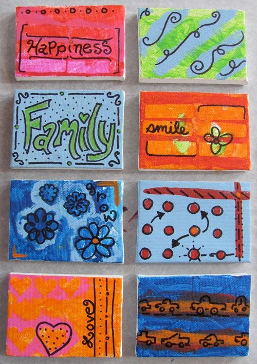 Creating Family Art With Mini Canvases Throughout Small Canvas Wall Art (View 14 of 20)