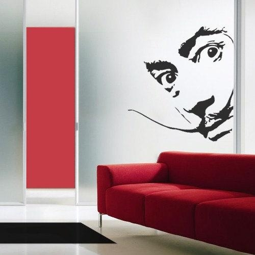 Creative Design: Salvador Dali Wall Decal Art Home Deco Vynil Pertaining To Salvador Dali Wall Art (Image 5 of 20)