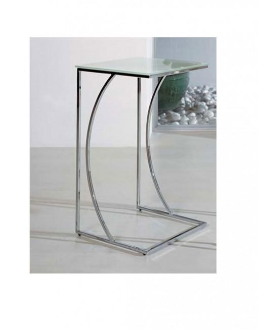 Crescent Glass Side Table | Expand Furniture – Folding Tables Regarding Chrome Sofa Tables (Image 8 of 20)