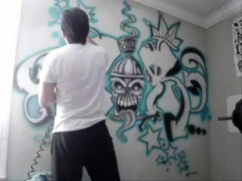 Creyes Airbrushing Wall – Youtube Throughout Airbrush Wall Art (View 15 of 20)