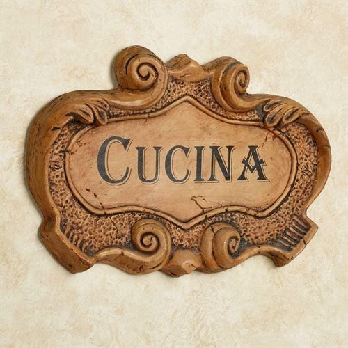 Cucina Italian Kitchen Wall Plaque Intended For Cucina Wall Art (View 18 of 20)