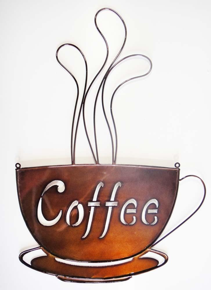 Cup Of Tea And Coffee Metal Wall Plaques | Metal Wall Art In Metal Coffee Cup Wall Art (Image 13 of 20)
