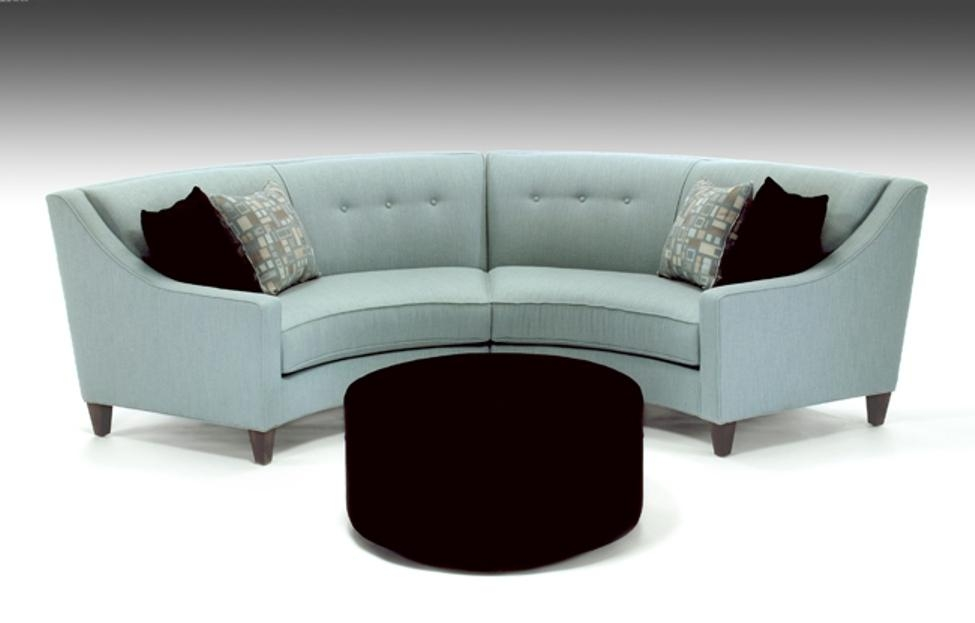 Curved Couch With Recliners — Interior Exterior Homie Inside Small Curved Sectional Sofas (Image 4 of 20)