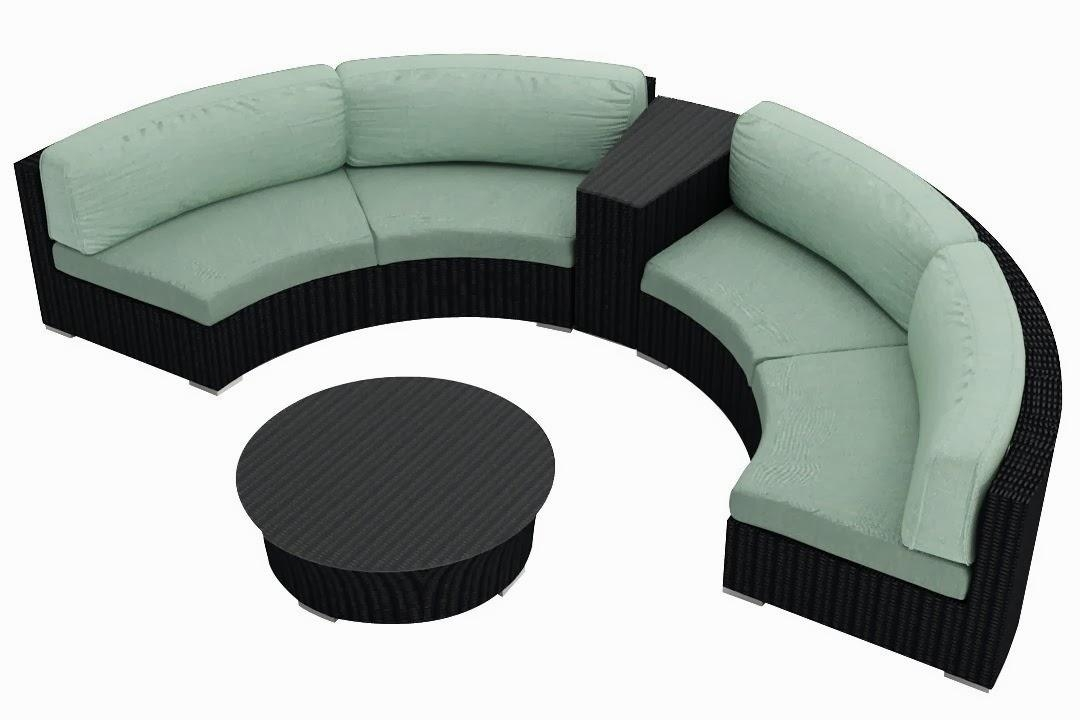 Curved Sectional Sofa For Small Living Room : Choosing Leather Pertaining To Small Curved Sectional Sofas (Image 7 of 20)