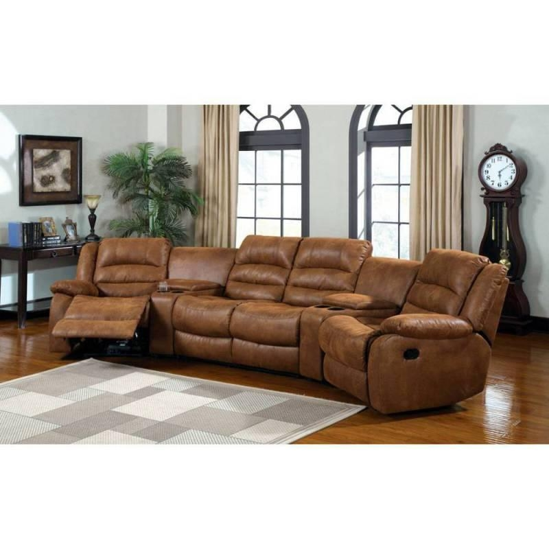 20 best ideas curved sectional sofas with recliner