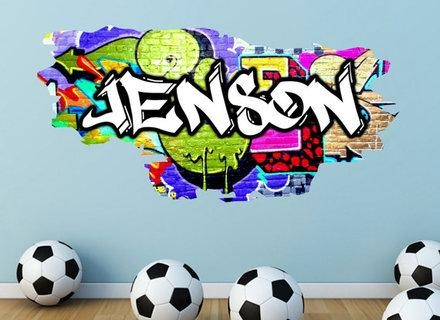Custom Graffiti Vinyl Decal Lettering Auto Wall Art Sticker Ebay For Graffiti Wall Art Stickers (Image 11 of 20)
