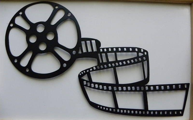 Custom Made Metal Wall Art Movie Theater Home Decor Movie Reel Throughout Film Reel Wall Art (Image 12 of 20)