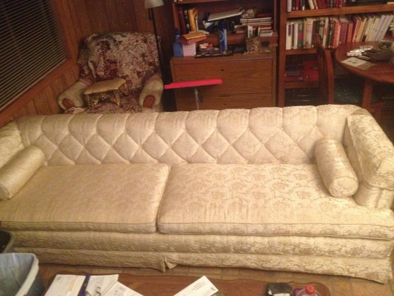 Custom Made Vintage Brocade Sofa (Image 7 of 20)