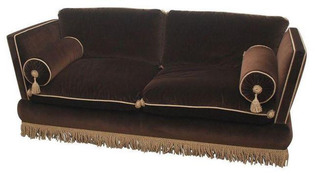 Custom One Of A Kind Brown Velvet Sofa – $8,000 Est (View 6 of 20)