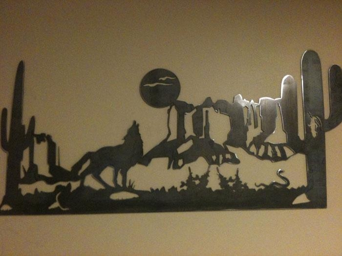 Custom Plasma Cutting And Metal Art From Young's Welding And With Regard To Western Metal Wall Art Silhouettes (Image 8 of 20)