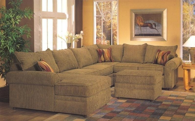 Custom Sectional Sofa | Chenille Sectional | U Shaped Sectional 8069 Intended For Chenille Sectional Sofas (Image 9 of 20)