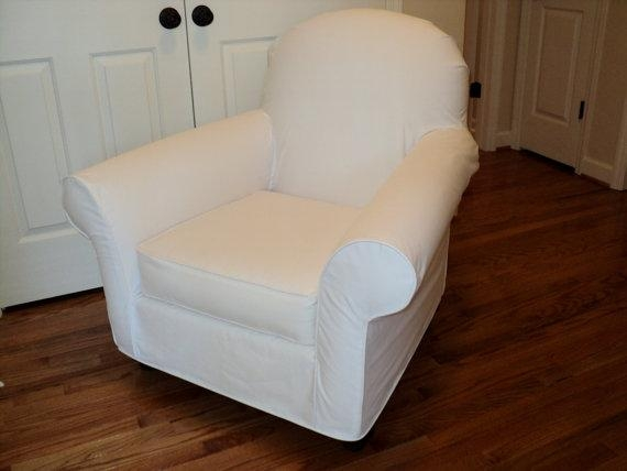 Custom Slipcover For Your Pb Dream Rocker With Wooden Within Pottery Barn Chair Slipcovers (View 8 of 20)