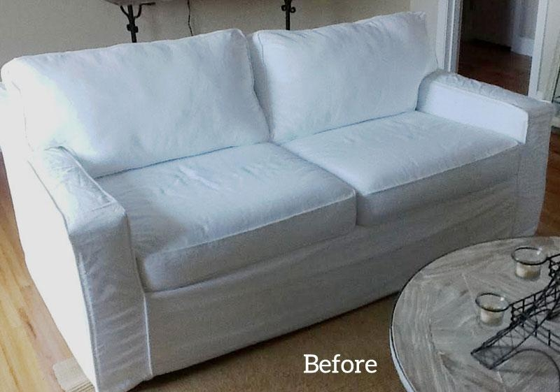 Custom Slipcover | The Slipcover Maker Within Denim Sofa Slipcovers (Image 4 of 20)
