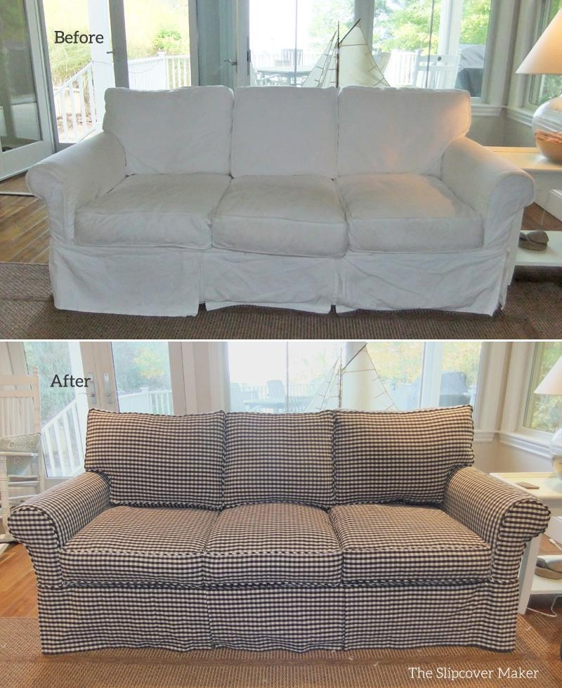 Custom Sofa Slipcover In Gingham | The Slipcover Maker Throughout Gingham Sofas (View 5 of 20)