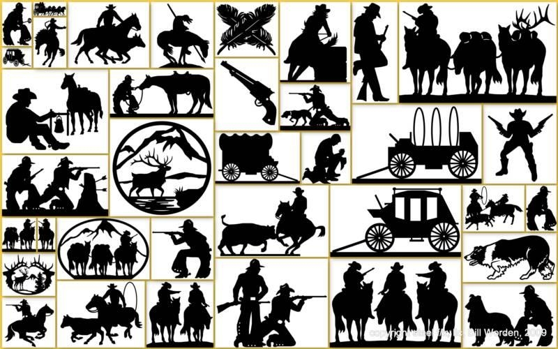Custom Steel Art Designs Patterns Within Western Metal Wall Art Silhouettes (Image 10 of 20)