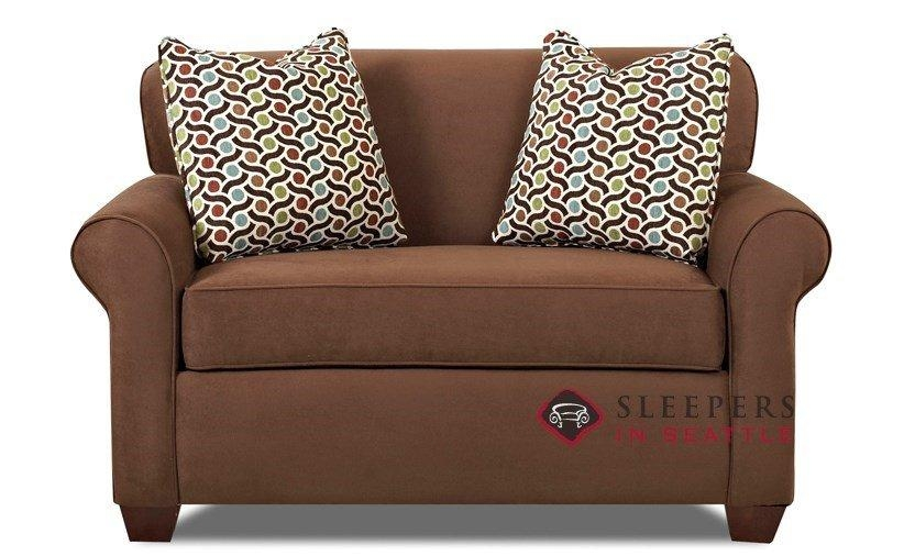 Customize And Personalize Calgary Chair Fabric Sofasavvy With Regard To Condo Size Sofas (Image 18 of 20)
